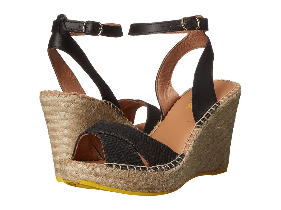 Lole - High Heel Sandals Louisa (N101 - Black) Women's Wedge Shoes