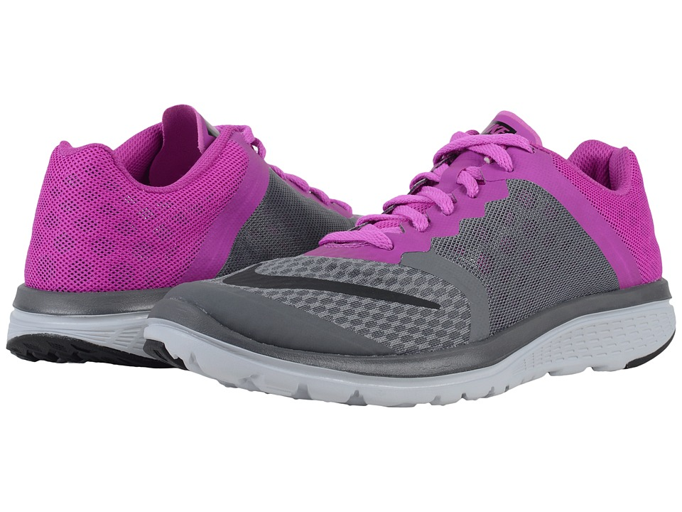 Nike - FS Lite Run 3 (Dark Grey/Hyper Violet/Wolf Grey/Black) Women's Running Shoes