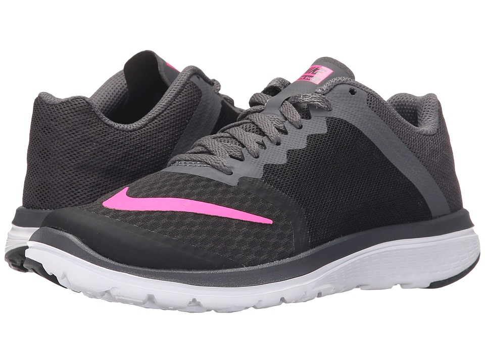 Nike - FS Lite Run 3 (Black/Dark Grey/White/Pink Blast) Women's Running Shoes