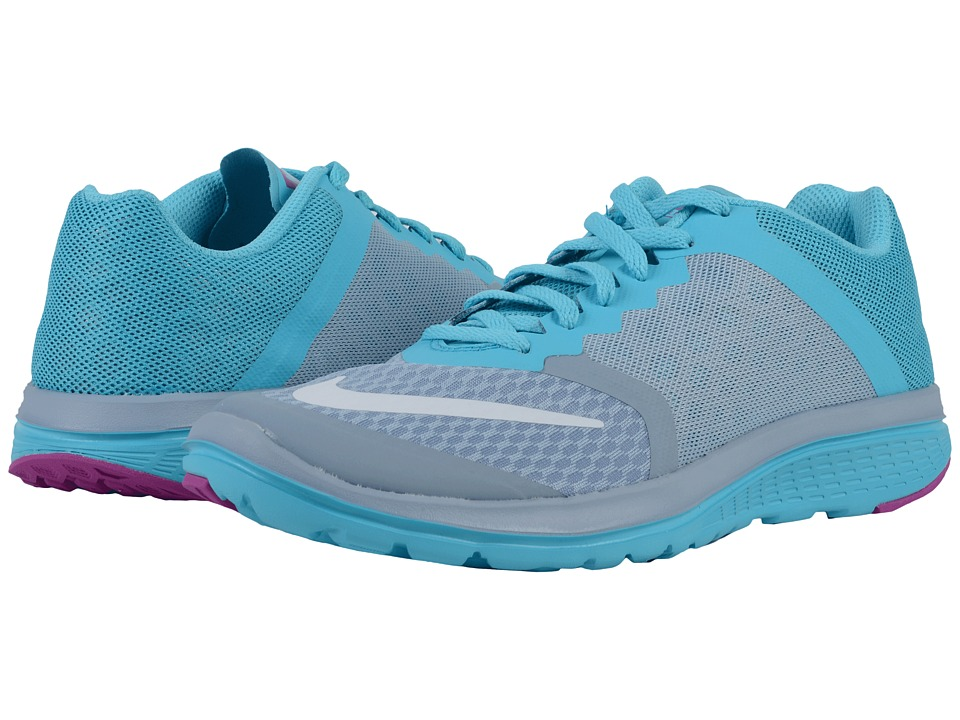 Nike - FS Lite Run 3 (Blue Grey/Gamma Blue/Hyper Violet/White) Women's Running Shoes