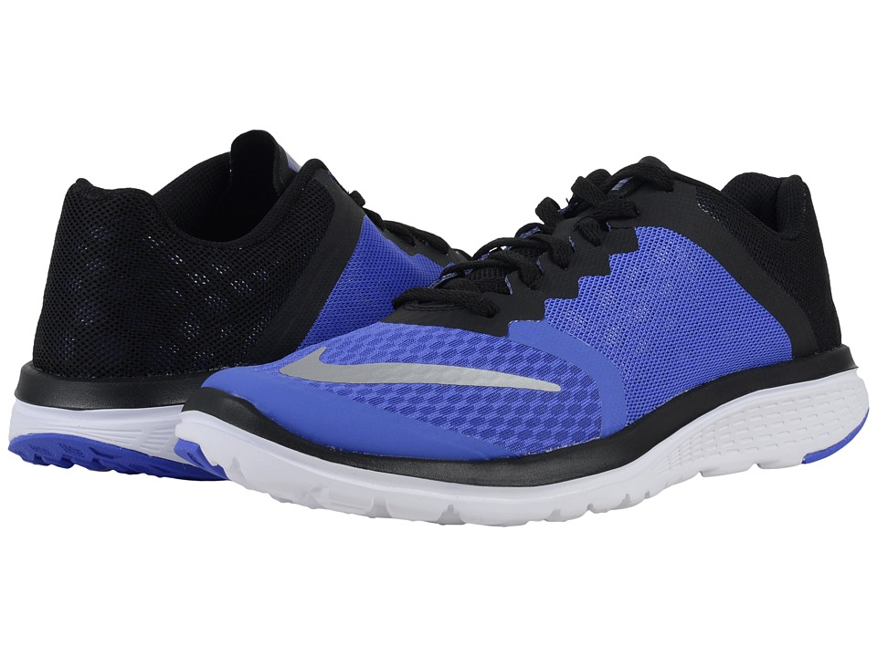 Nike - FS Lite Run 3 (Persian Violet/Black/White/Metallic Silver) Women's Running Shoes