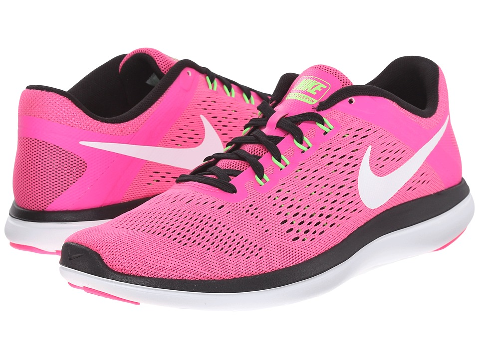 Nike - Flex 2016 RN (Pink Blast/Black/Electric Green/White) Women's Running Shoes