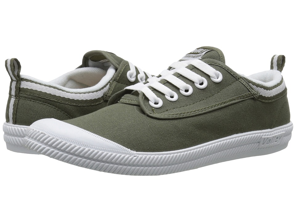 Volley Australia - International Linen Cork (Olive) Athletic Shoes