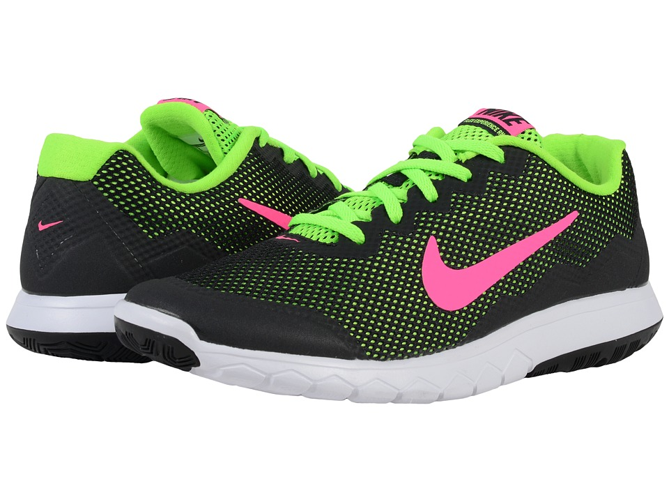 Nike - Flex Experience RN 4 (Black/Electric Green/White/Pink Blast) Women's Running Shoes