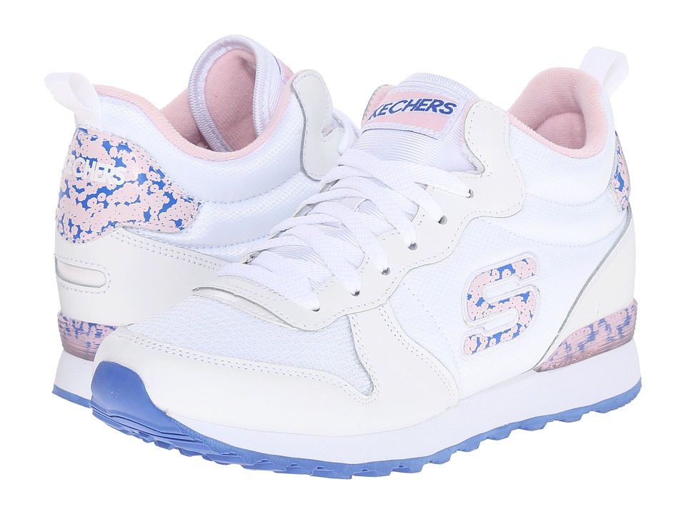 SKECHERS - OG 85 (White/Pink) Women's Running Shoes