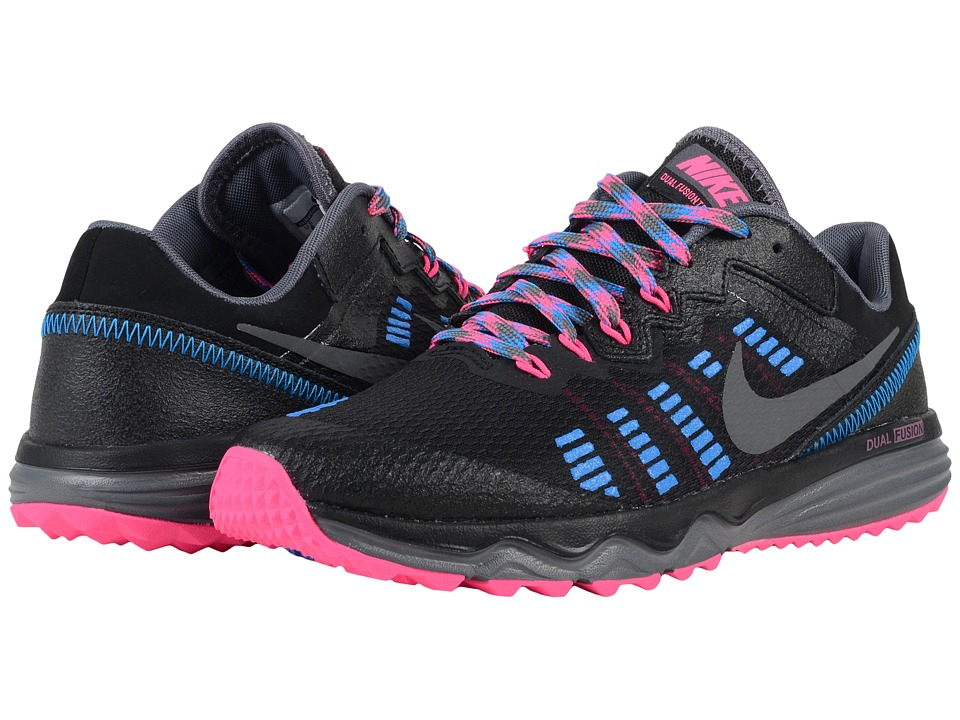Nike - Dual Fusion Trail 2 (Black/Pink Blast/Photo Blue/Dark Grey) Women's Running Shoes