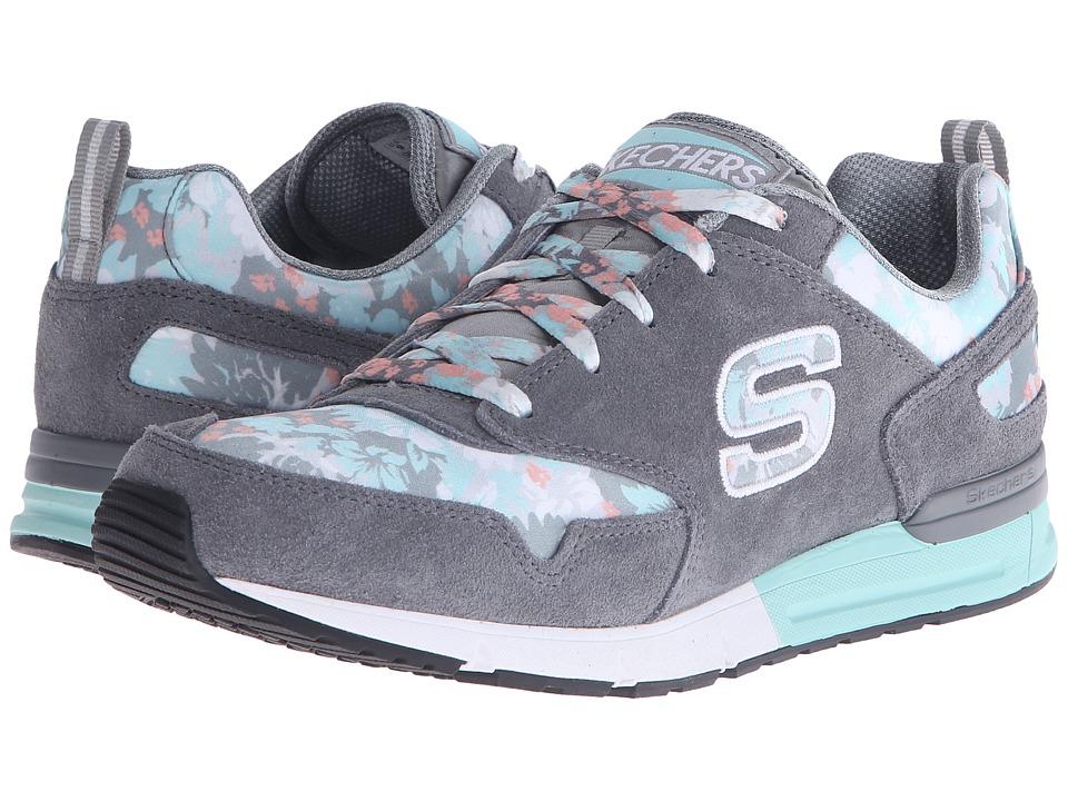 SKECHERS - OG 92 - Flowers (Gray/Mint) Women's Running Shoes