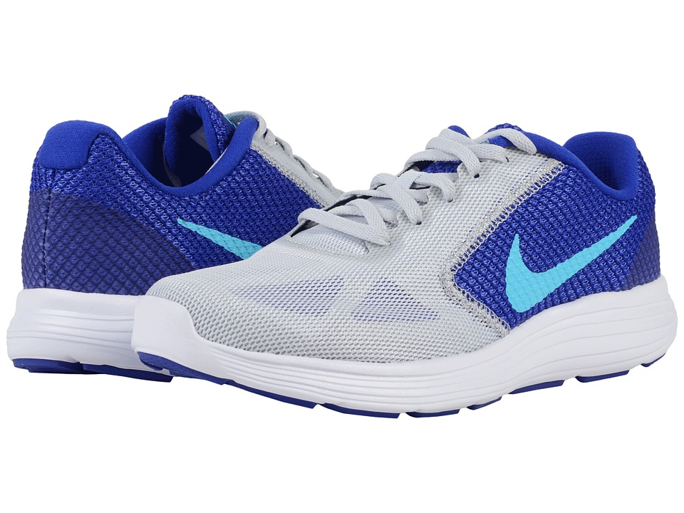 Nike - Revolution 3 (Pure Platinum/Concord/Persian Violet/Gamma Blue) Women's Running Shoes