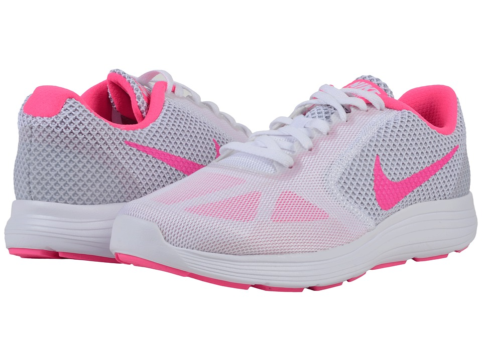 Nike - Revolution 3 (White/Wolf Grey/Pink Blast) Women's Running Shoes
