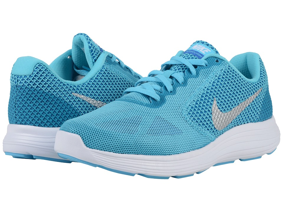 Nike - Revolution 3 (Gamma Blue/Photo Blue/Game Royal/Metallic Silver) Women's Running Shoes