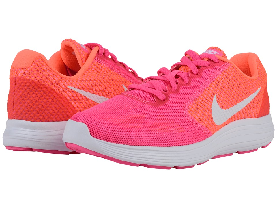 Nike - Revolution 3 (Pink Blast/Bright Mango/White) Women's Running Shoes