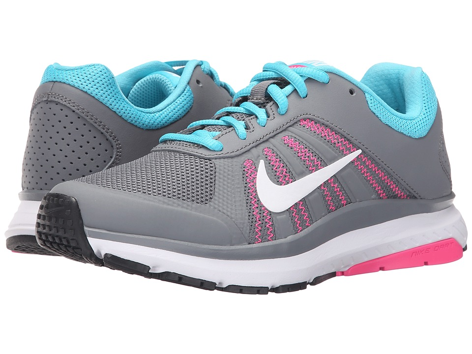 Nike - Dart 12 (Cool Grey/Gamma Blue/Pink Blast/White) Women's Running Shoes