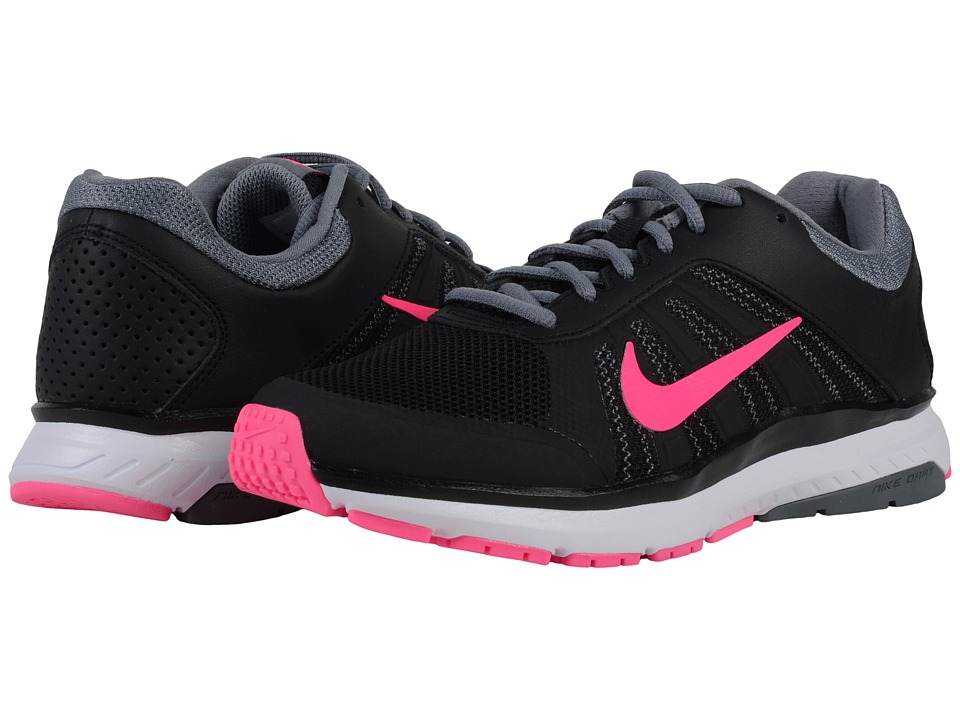 Nike - Dart 12 (Black/Cool Grey/Dark Grey/Pink Blast) Women's Running Shoes
