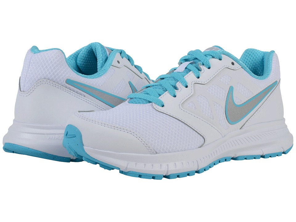 Nike - Downshifter 6 (White/Gamma Blue/Light Silver/Metallic Silver) Women's Running Shoes