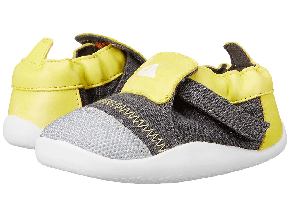 Bobux Kids - Play Xplorer Freestyle One (Infant/Toddler) (Yellow/Gray) Kid's Shoes