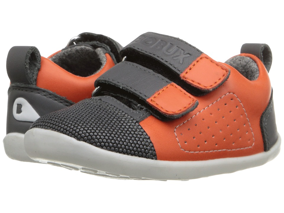 Bobux Kids - Step-Up Street Arc (Infant/Toddler) (Orange/Gray) Kid's Shoes