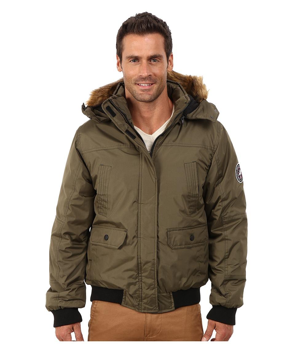 English Laundry - Pu Coated Jacket (Olive) Men's Coat