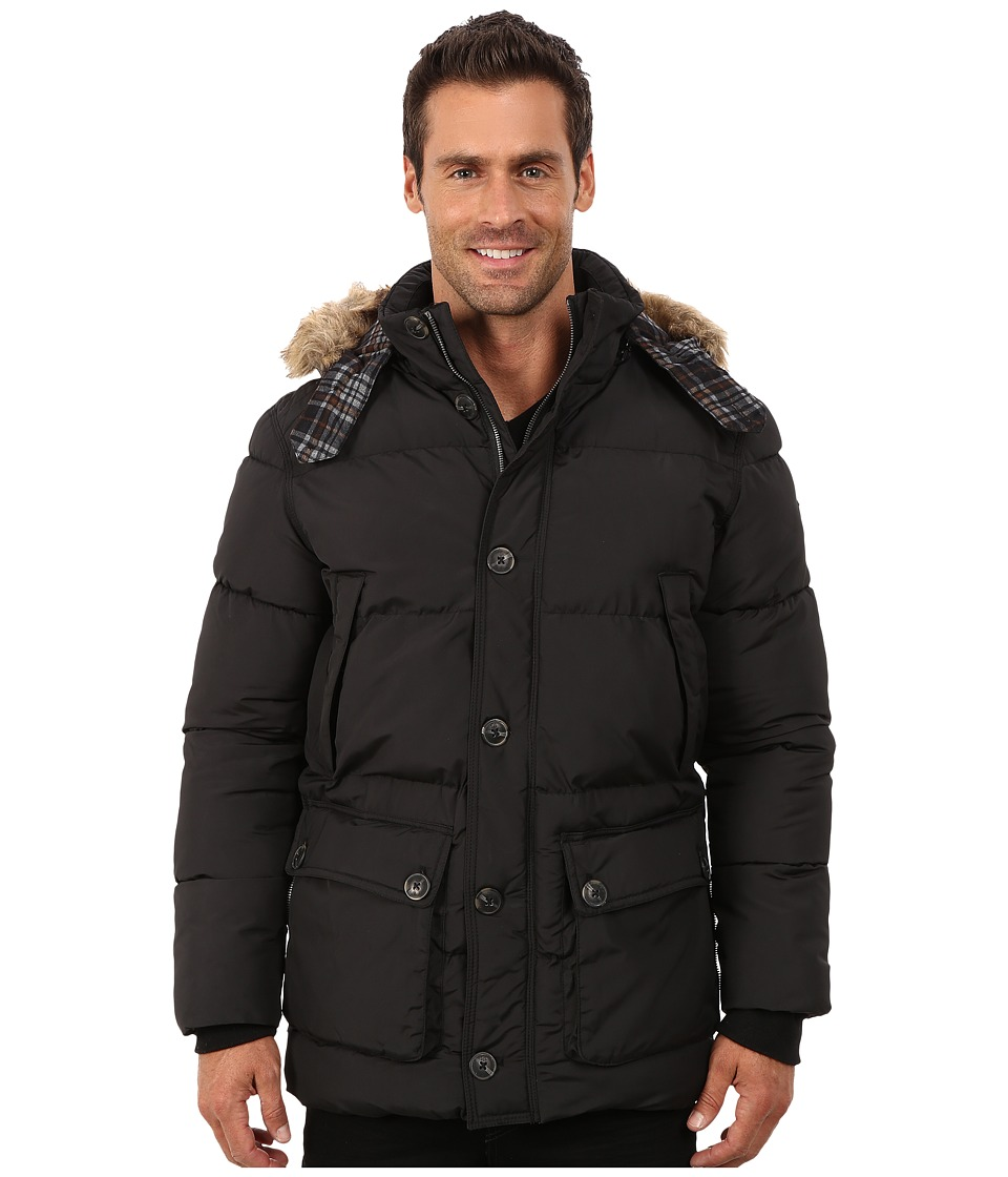 English Laundry - Pu Coated Jacket (Black) Men's Coat