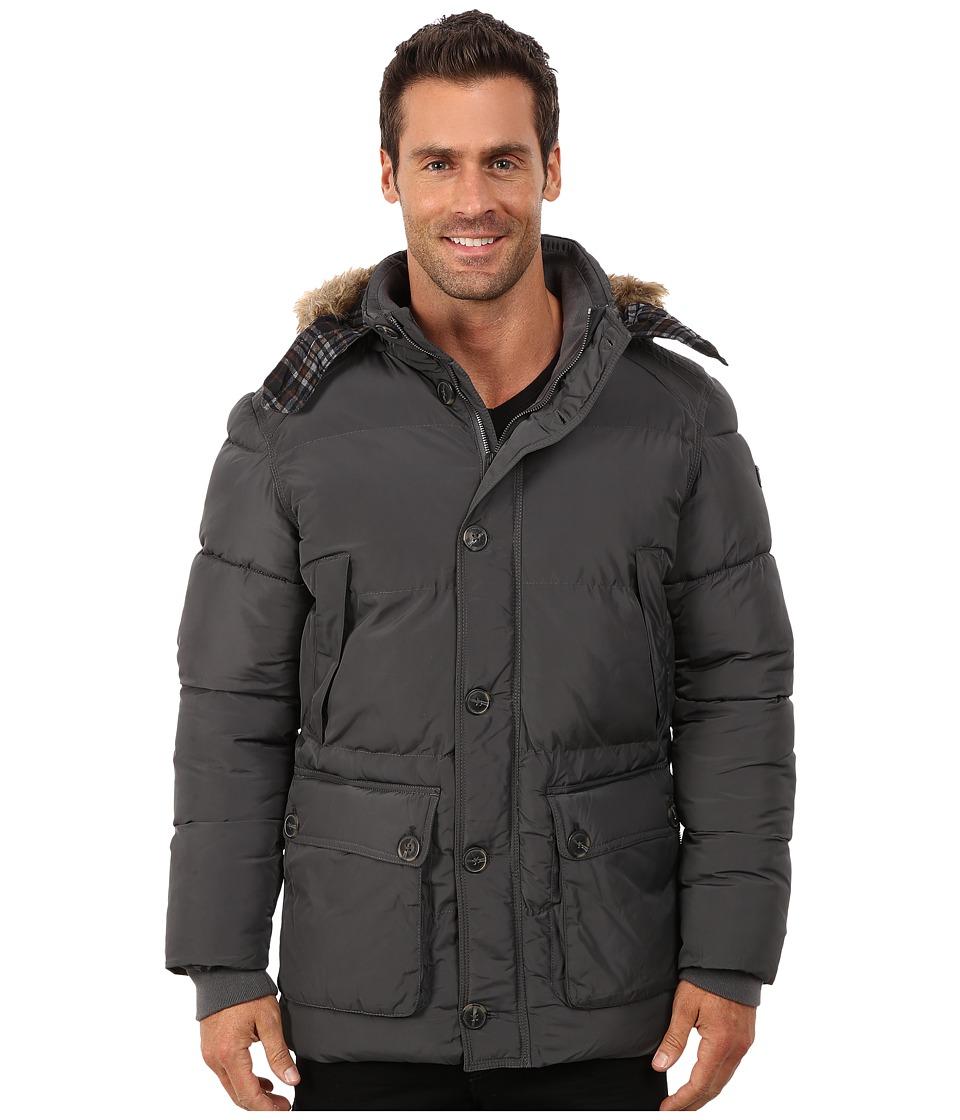 English Laundry - Pu Coated Jacket (Charcoal) Men's Coat