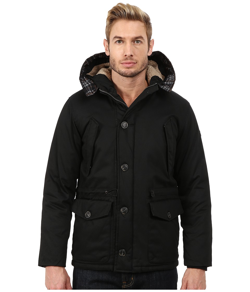 English Laundry - Cotton Wax Coated Jacket (Black) Men's Coat