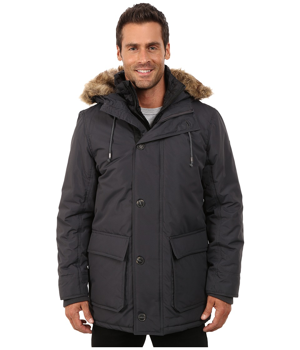 English Laundry - Pu Coated Jacket (Charcoal) Men's Coat
