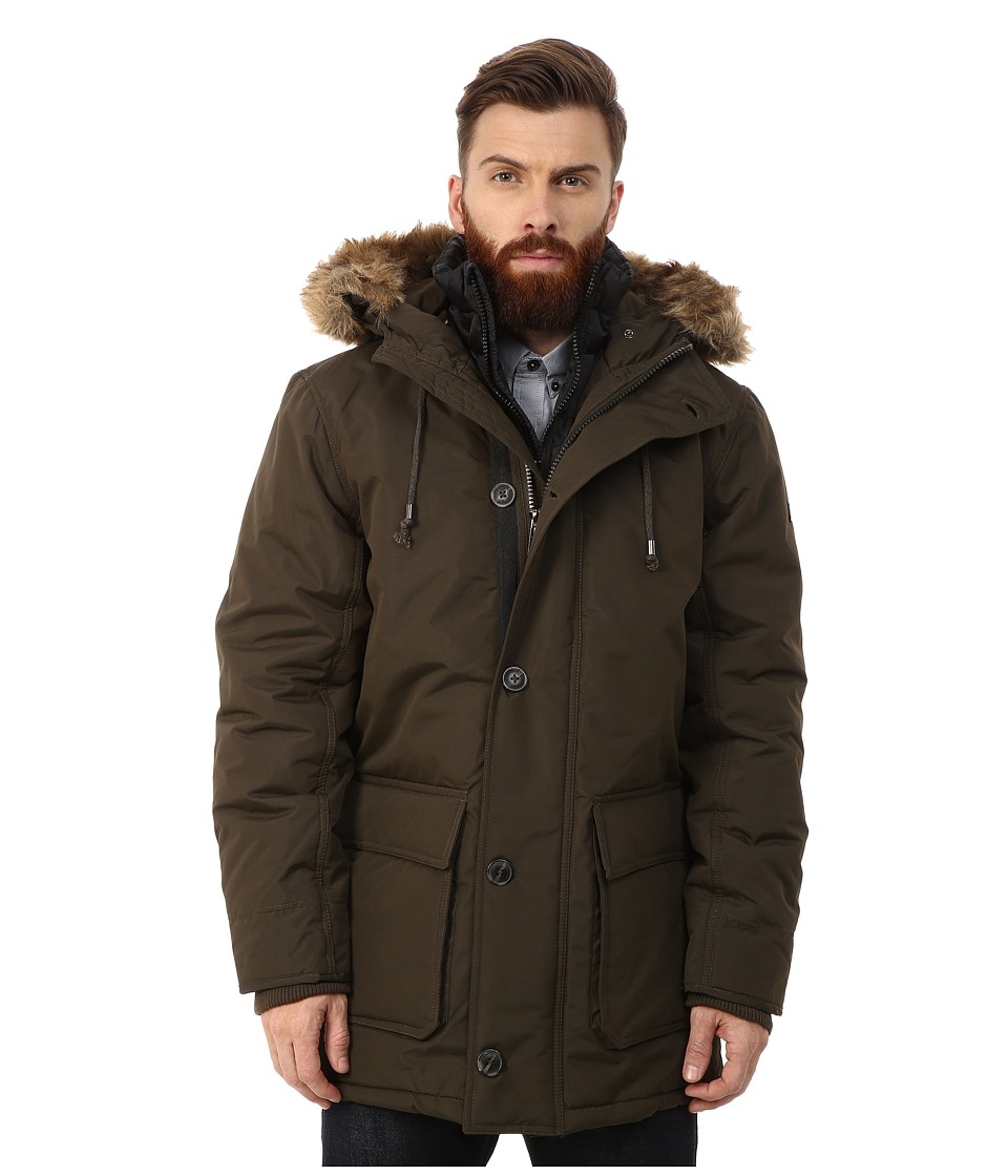 English Laundry - Pu Coated Jacket (Olive) Men's Coat