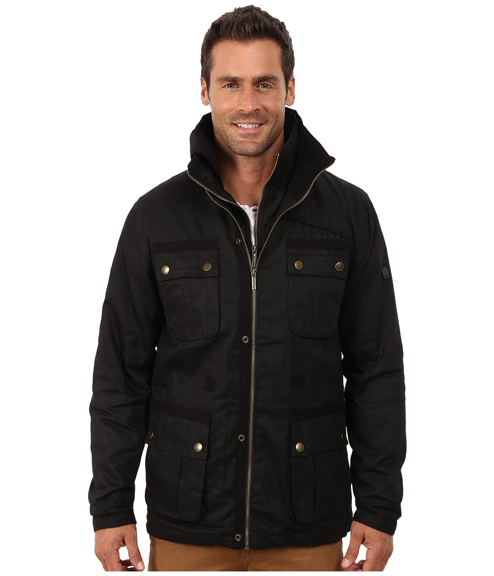English Laundry - Wax Cotton Jacket (Black) Men's Coat