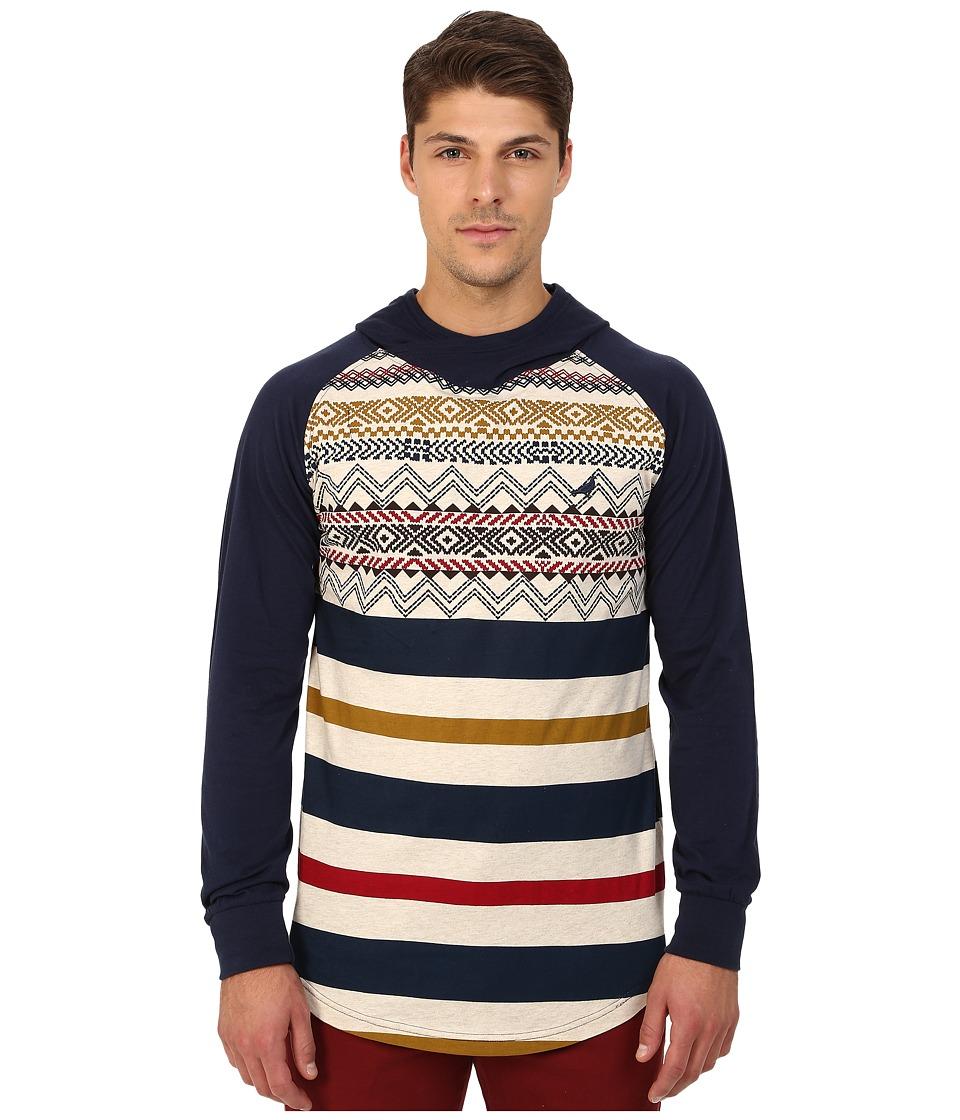 Staple - Skylight Hooded Tee (Navy) Men's T Shirt