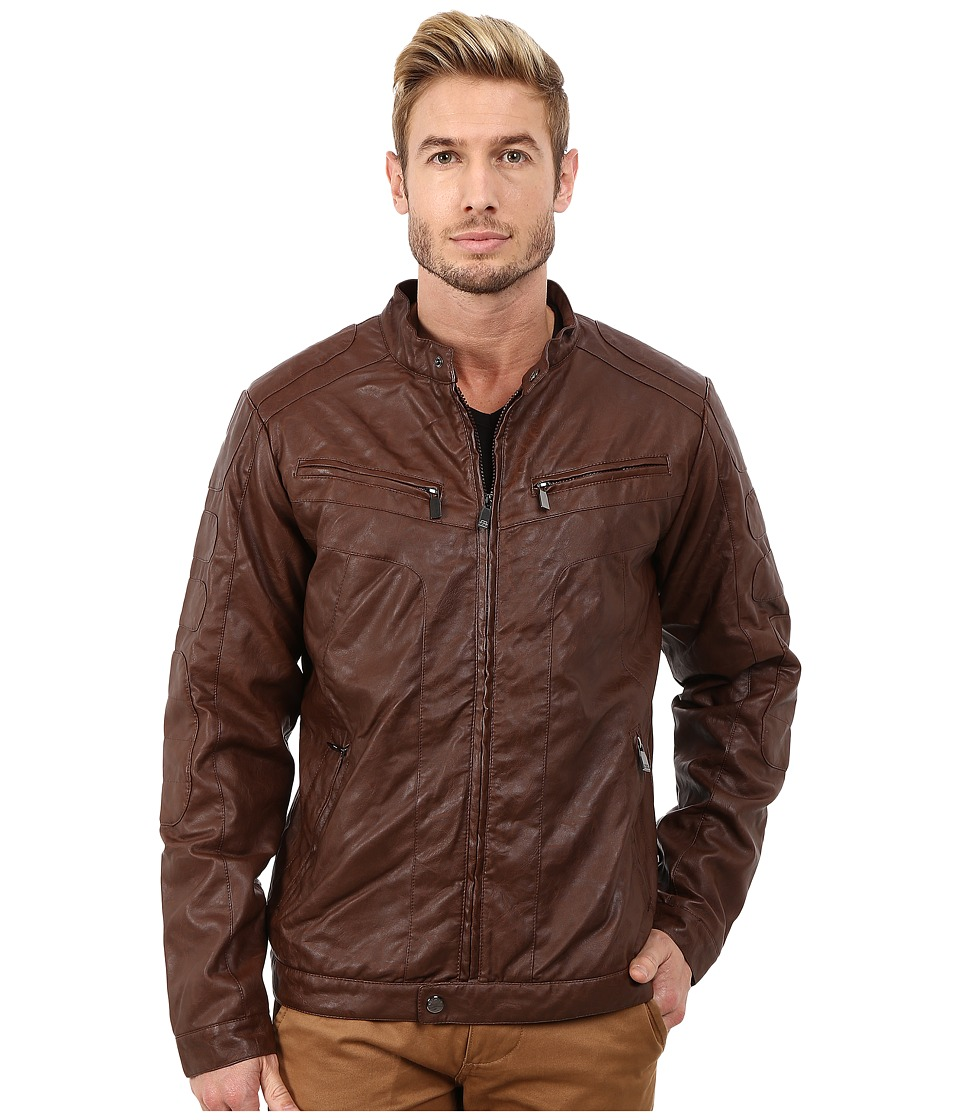 Steve Madden - PU Jacket (Brown) Men's Coat