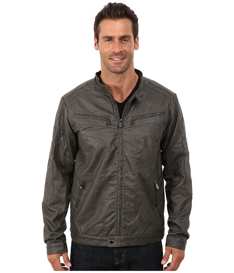 Steve Madden - PU Jacket (Grey) Men's Coat