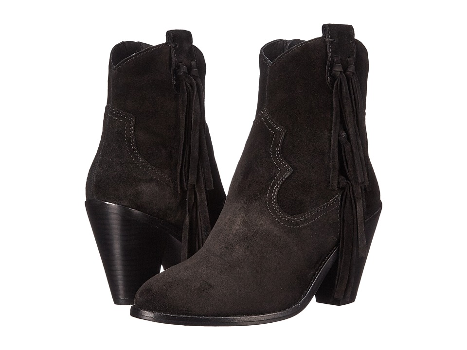 ASH - Isha (Black Baby Silk) Women's Zip Boots