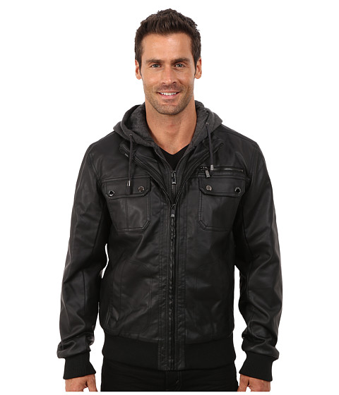 Steve Madden - PU Jacket (Black) Men
