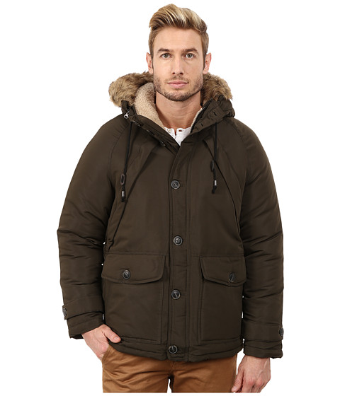 Steve Madden - Poly Woven PU Coated Jacket (Olive) Men