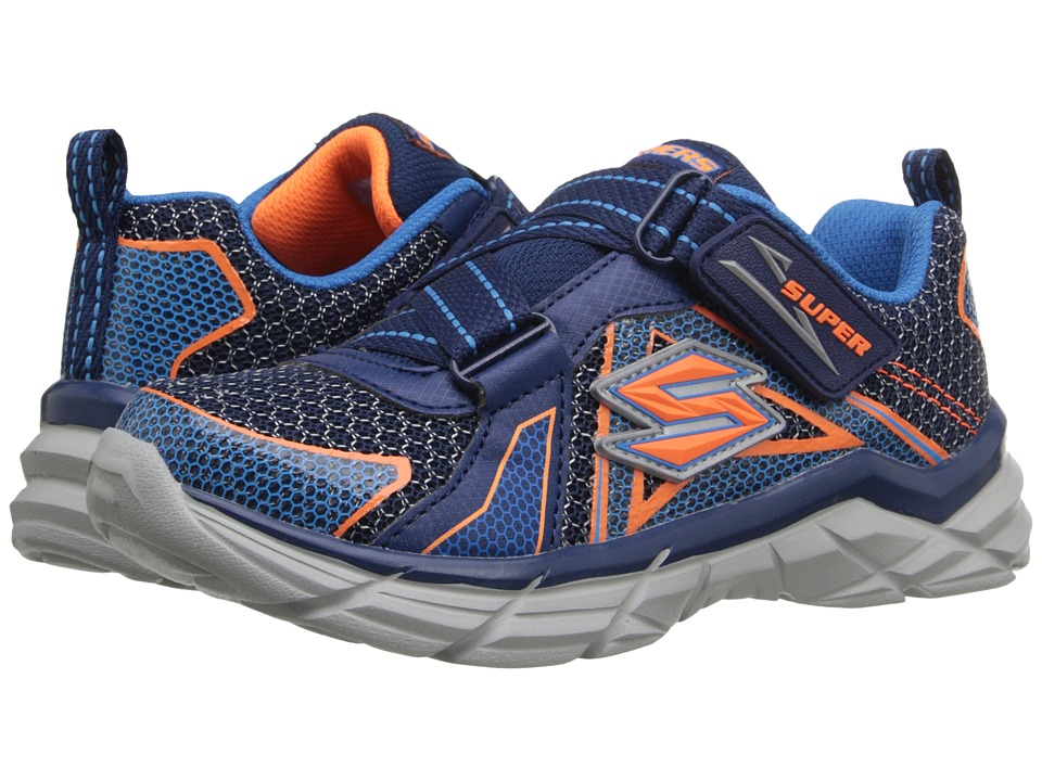 SKECHERS KIDS - Rive Dismiss (Little Kid) (Navy/Orange) Boy's Shoes
