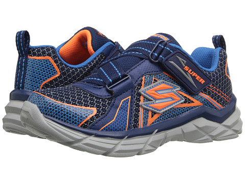 SKECHERS KIDS - Rive Dismiss (Little Kid) (Navy/Orange) Boy