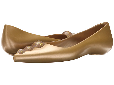 Melissa Shoes - Melissa Glam + Karl Lagerfeld (Gold Glitter) Women's Flat Shoes