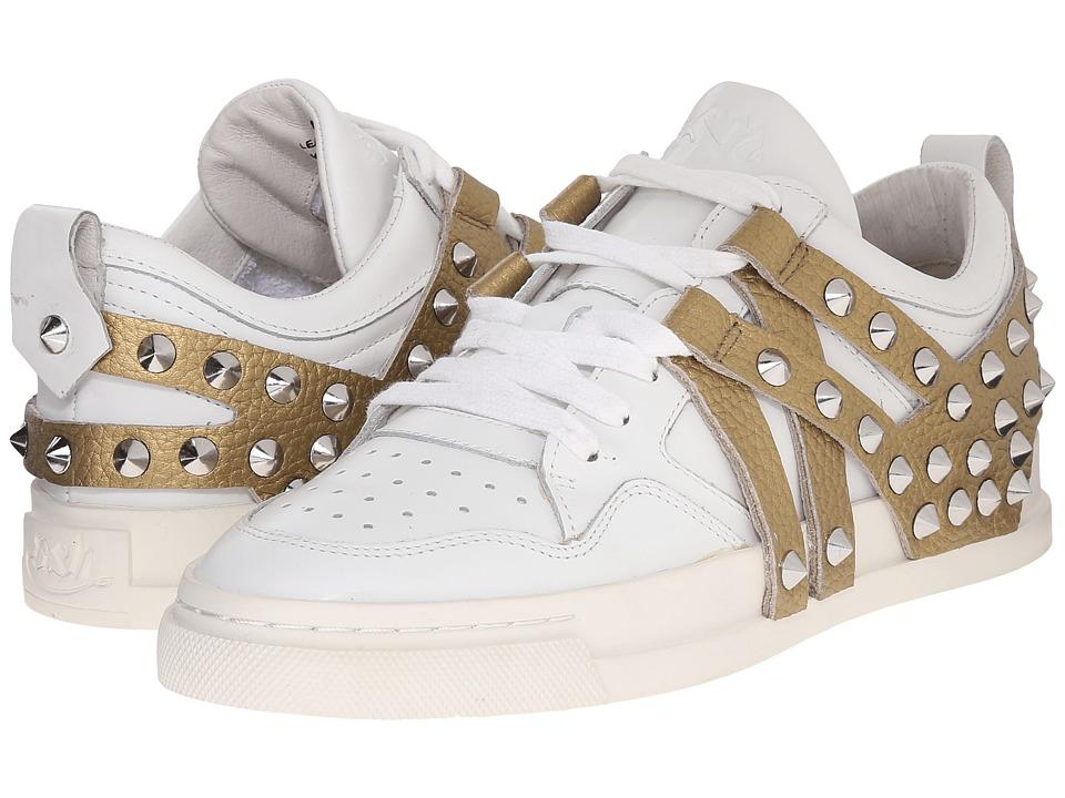 ASH - Extra (White Nappa Calf/Antique Gold Metallic) Women's Slip on Shoes