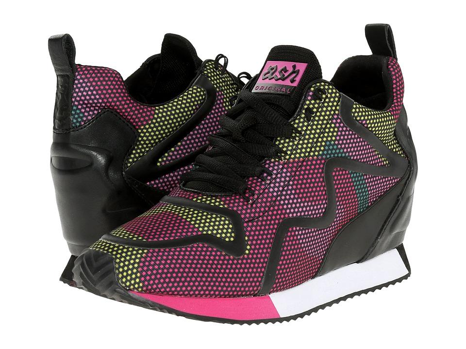 ASH - Domino (Pink Knit Dot Camo/Yellow Knit/Black) Women's Slip on Shoes