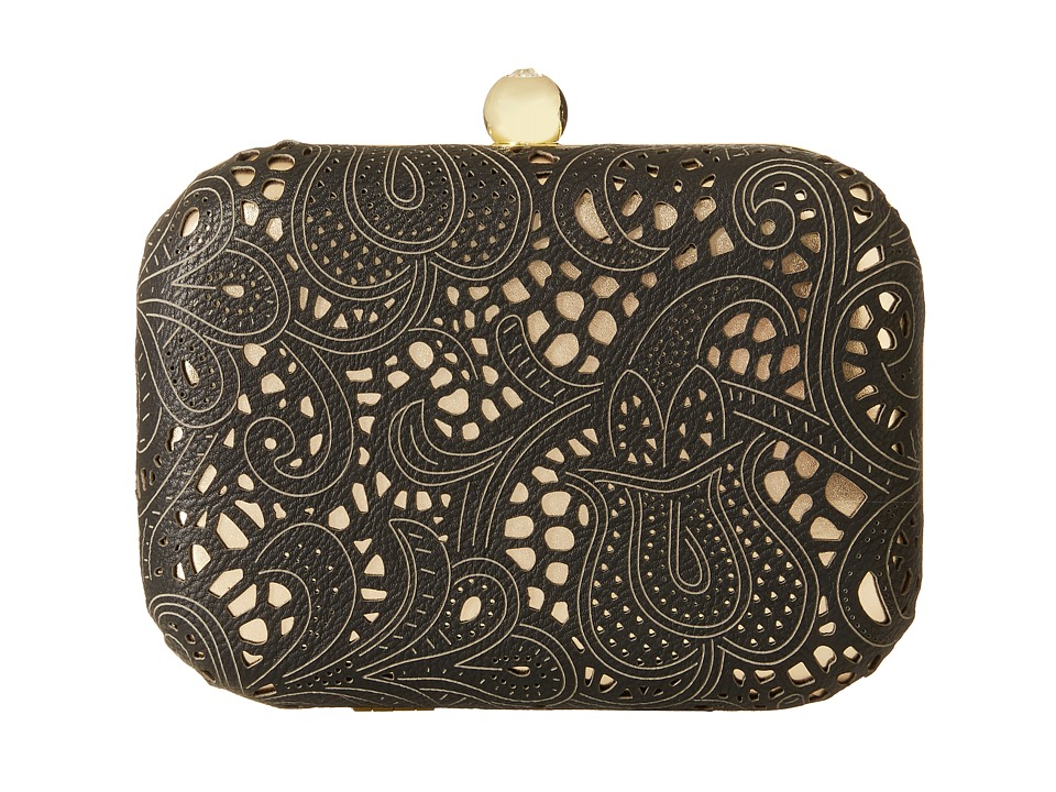 Jessica McClintock - Roxie Lace Minaudiere (Black) Cross Body Handbags