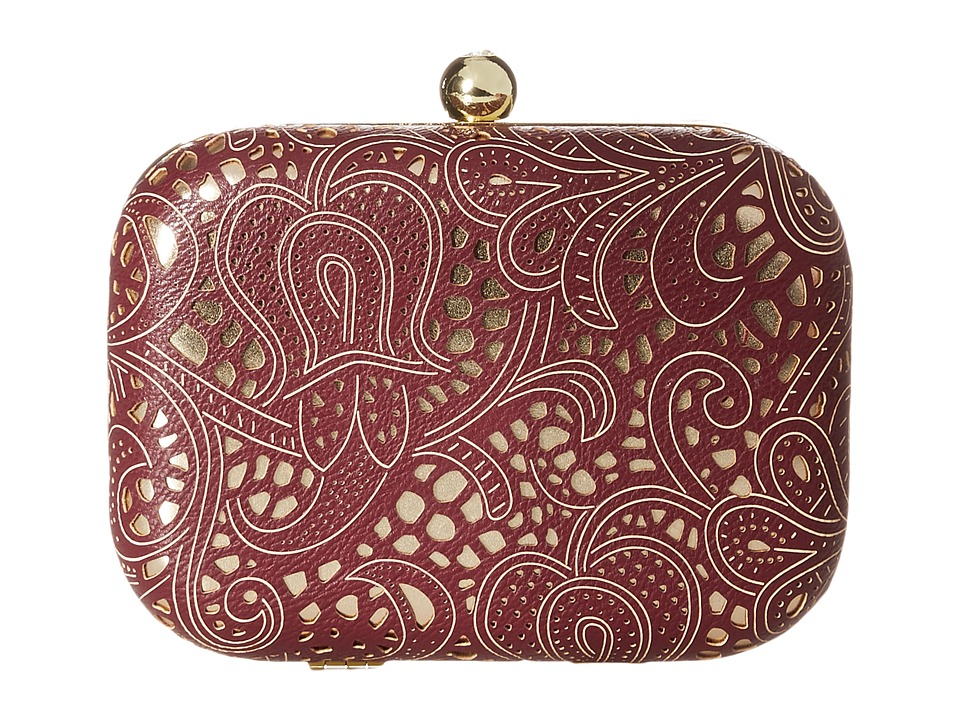 Jessica McClintock - Roxie Lace Minaudiere (Wine) Cross Body Handbags