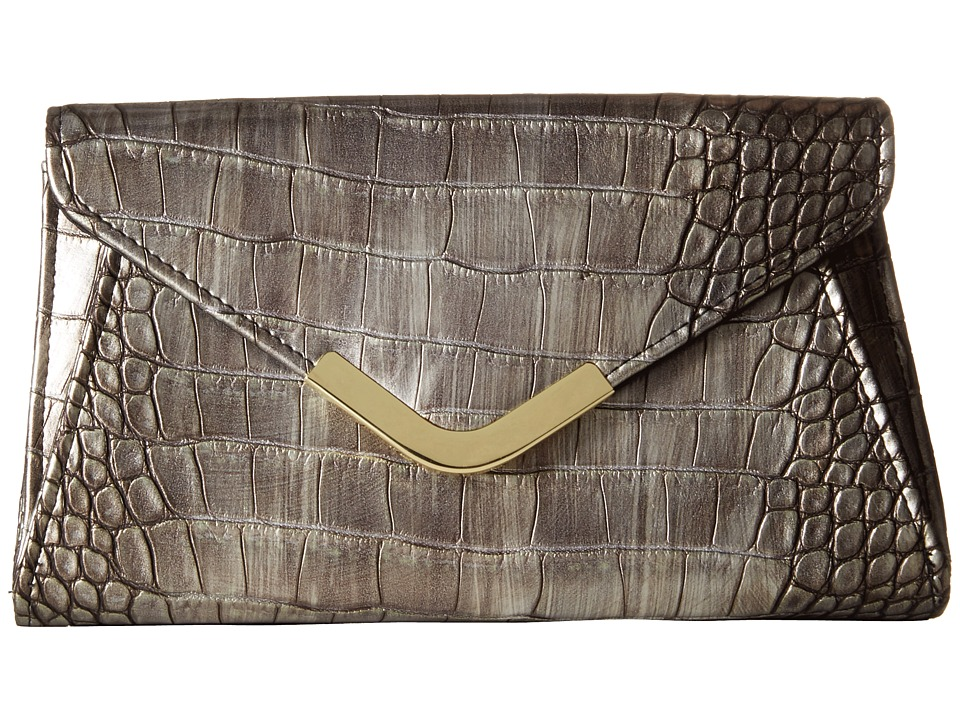 Jessica McClintock - Lily Croco Small Envelope Clutch (Bronze) Cross Body Handbags