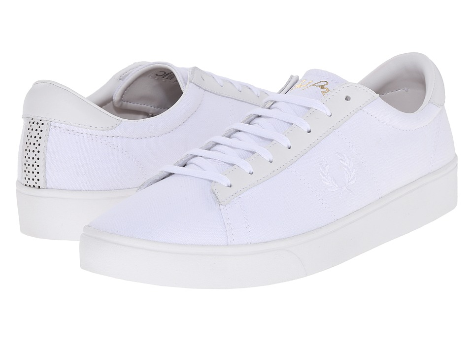 Fred Perry - Spencer Canvas/Leather (White/White) Men's Lace up casual Shoes