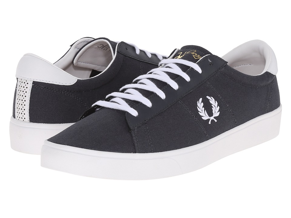 Fred Perry - Spencer Canvas/Leather (Charcoal/White) Men's Lace up casual Shoes