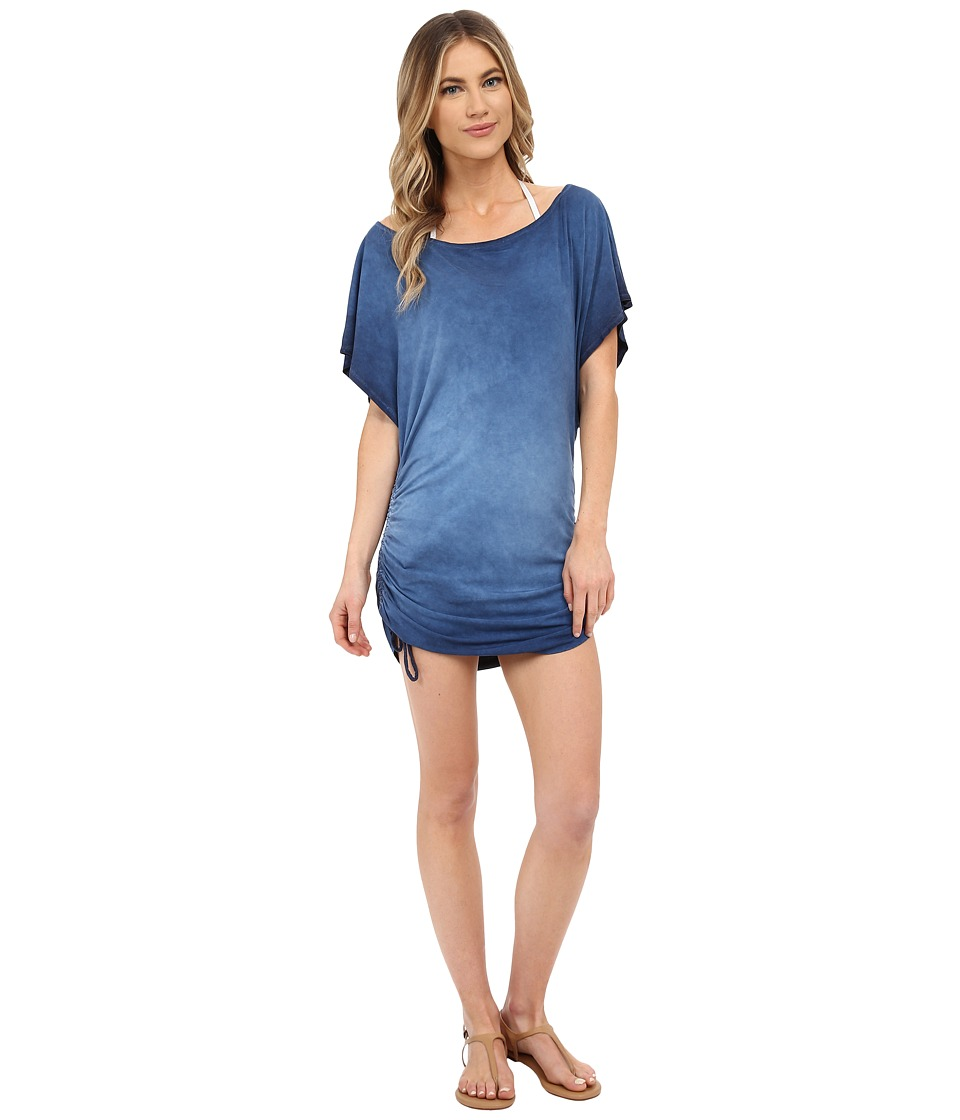 Lucky Brand - Vacation Vibe Tunnel Dress Cover-Up (Indigo) Women's Swimwear