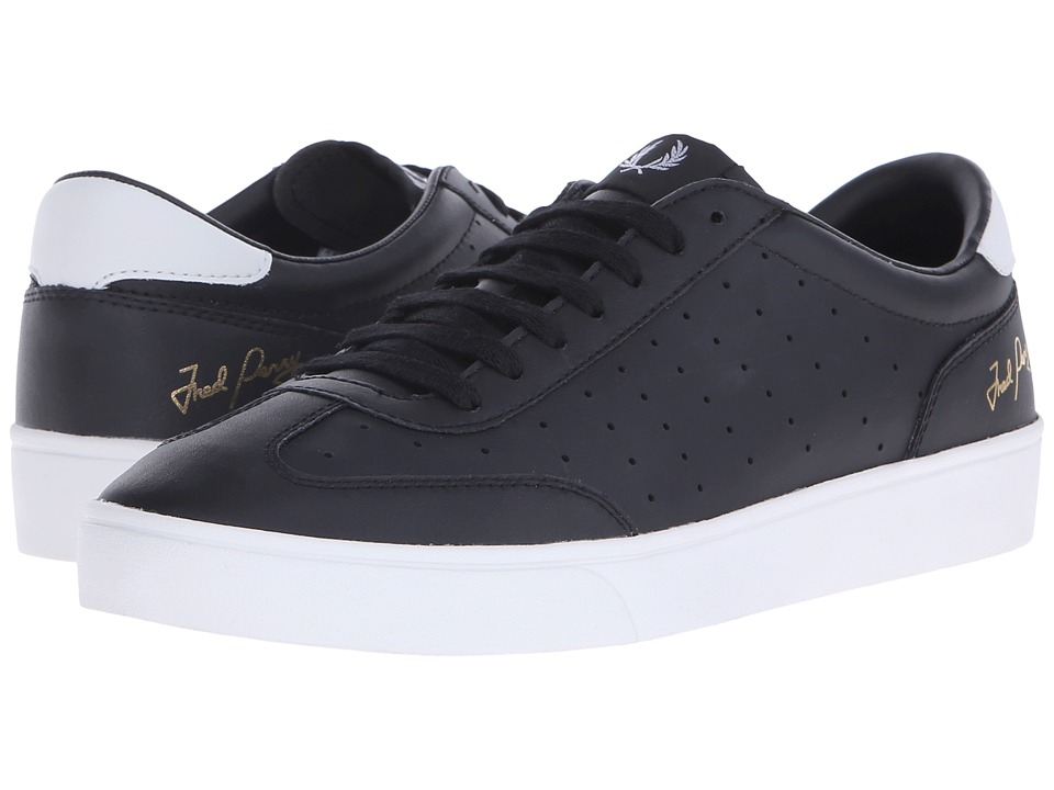 Fred Perry - Umpire Leather (Black) Men's Lace up casual Shoes