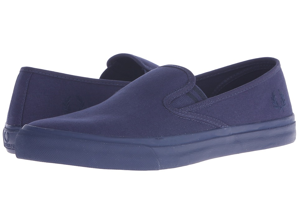 Fred Perry - Turner Slip-On Canvas (Carbon Blue/Navy) Men's Slip on Shoes