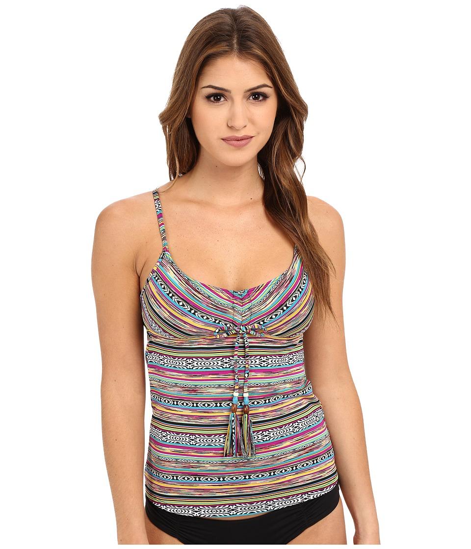Lucky Brand - Arabian Night Tankini Top (Multi) Women's Swimwear