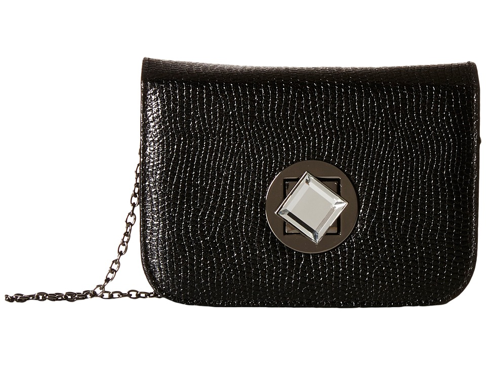 Jessica McClintock - Anna Turnlock Shoulder Bag (Black) Clutch Handbags