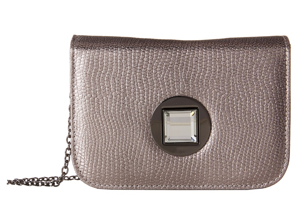 Jessica McClintock - Anna Turnlock Shoulder Bag (Pewter) Clutch Handbags