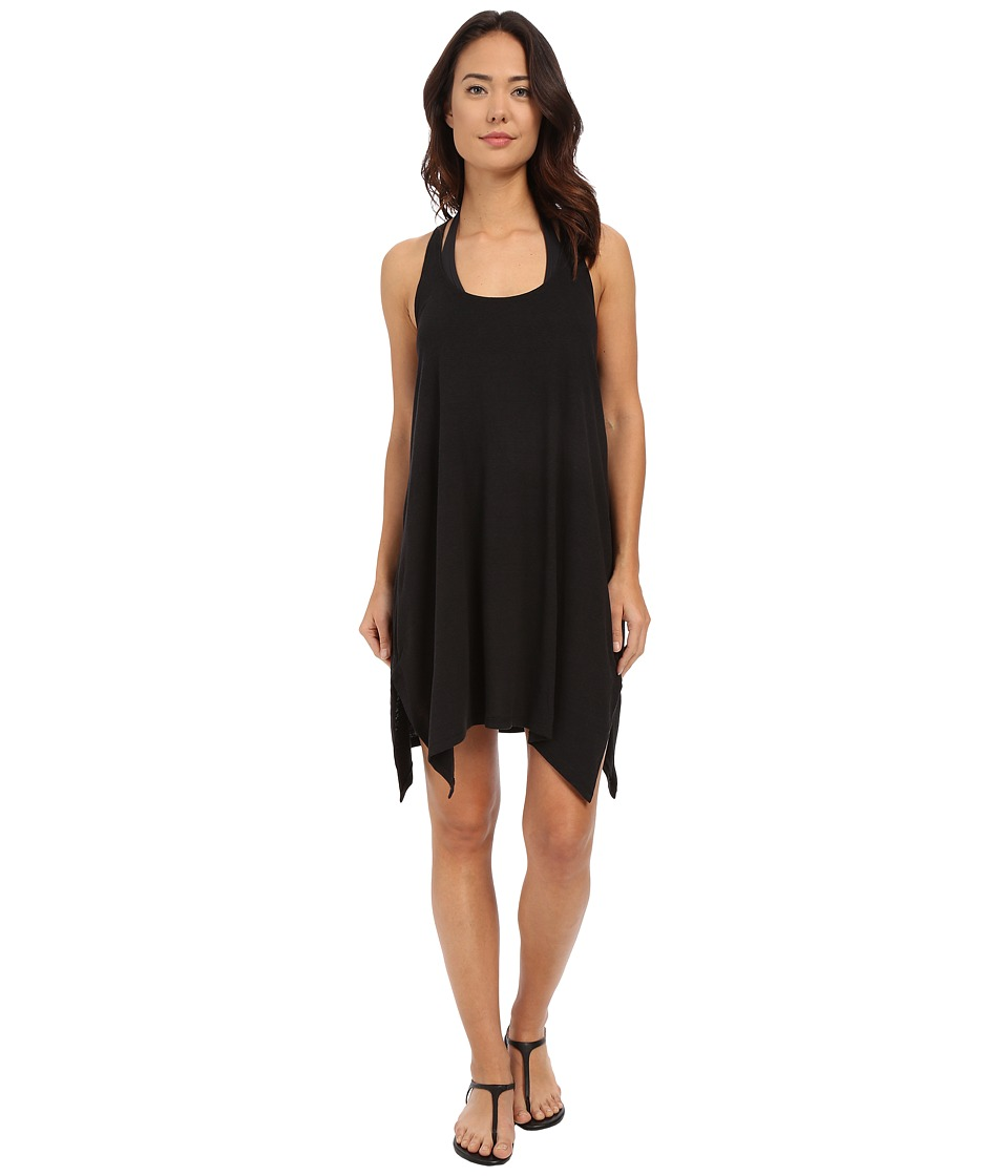 Lucky Brand - Arabian Night Dress Cover-Up (Black) Women's Swimwear